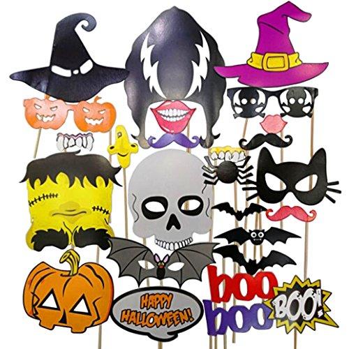 Meetory Halloween Photo Booth Requisiten, 26 Piece DIY Kit für Halloween Party Graduierung Party Requisiten - Booth Diy Photo Halloween