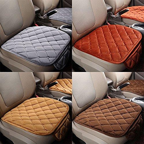 Sedeta® 1PSC avant + 1 PCS arrière siège de voiture couvre Silk Velvet Automotive Coussin d'intérieur pour le conducteur SUV siège protecor pad tapis de couleur crème
