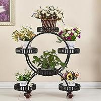 Preisvergleich für Blumenständer Iron art Multilayer Continental mobile Blumenständer Stehender Blumentopf Regal Wohnzimmer Balkon indoor outdoor ( Farbe : B )