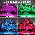 Onforu RGB 20W 35W 100W LED Strahler mit Fernbedienung, 16 Farben 4 Modi
