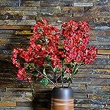 GSYLOL Hohe Qualität Seide Gefälschte Blumen Bougainvillea Künstliche Blume Zweig Hochzeit Home Hotel Decor, Weiß