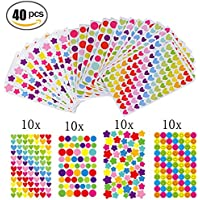 Gommettes 40 Feuilles Pour Fujifilm Instax Mini Photo Autocollants Pour Album Photo Scrapbooking Instax Mini Photo DIY Accessoires - Multicolore