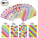 Gommettes 40 Feuilles Pour Fujifilm Instax Mini Photo Autocollants Pour Album Photo Scrapbooking...