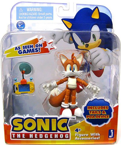 Sonic the Hedgehog Tails 3 Inch Action Figur With Accessories Set Tails & PDA Device (Sonic Tails)