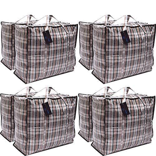 Paquete de 8 bolsas de compras XX-Large STRONG Storage Laundry - Bolsas...
