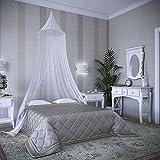 MingYu Hängende Kuppel Moskitonetz Das Größte Doppelbett Moskitonetz Baldachin– Insekten Malaria Schutz (White, 900)