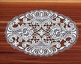 Tischwäsche und -dekoration von ars-vivendi Ovale Spitzendecke, Tischdecke oval Lilli aus Plauener Spitze in 4 Größen