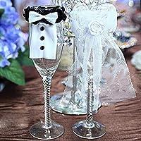 Bei wang Boda del vidrio de vino decoración de los encantos / decoraciones tabla de la boda de la novia y del novio de la decoración traje cristal ...