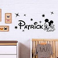 Adesivi Murali Nome personalizzato con topo baby Adesivo Murale cameretta bambini Decorazione da muro Wall Stickers…