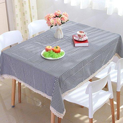 ode schwarz-weiß gestreiften Spitze Stoff Tisch, 1, 140 * 180cm ()