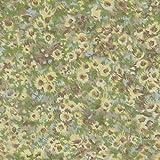 Hellblau und Gelb Sonnenblume Thema von Stoff