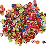 Bluelans® New 1000pcs/pack Nail Art 3D Fruit Fimo Slices Polymer Clay DIY Slice Decoration Nail Sticker (#1)