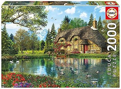 Educa - 16774 - Puzzle - Chalet Au Bord Du Lac - 2000 (Lake Cottage)