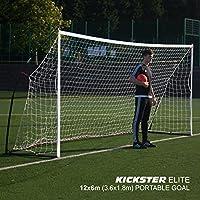 QUICKPLAY Kickster Elite - Porta da Calcio Professionale (3 x 2m)