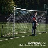 Quickplay Kickster Elite 3.6 X 1.8M – Super Portatile Porta da Calcio Professionale
