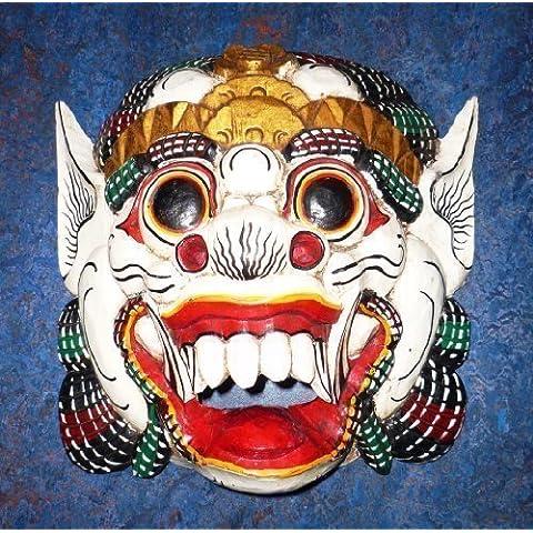 Grande in legno maschera di parete di Barong, Balinese protettivo divinità, fatto a mano in Bali, nuovo