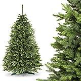 FAIRYTREES künstlicher Weihnachtsbaum FICHTE PREMIUM, Material MIX aus Spritzguss & PVC, inkl. Metallständer, 220cm, FT02-220
