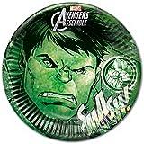 Partido Ênico 23 Placas cm Adolescentes Marvel Avengers Hulk Ensamble Party, Paquete de 8