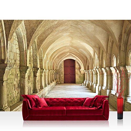 Preisvergleich Produktbild Vlies Fototapete 300x210 cm PREMIUM PLUS Wand Foto Tapete Wand Bild Vliestapete - COLONNADED ARCADES - Arkaden 3D Perspektive Gewölbe Säulen Spanien - no. 065