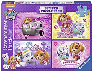 Ravensburger - Puzzle 4 in 1, Paw Patrol -Skye & Everest (06887)