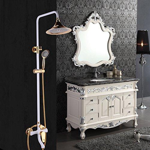RFF-Perla della doccia Orient Titanio placcatura vernice bianca in ottone Kit-MEIXI& - Perle Di Titanio