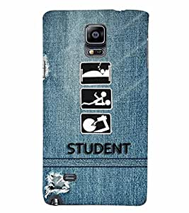 PrintVisa Quotes & Messages Student life 3D Hard Polycarbonate Designer Back Case Cover for Samsung Galaxy Note 4