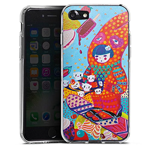 Apple iPhone X Silikon Hülle Case Schutzhülle Hase Süßigkeiten Mädchen Silikon Case transparent
