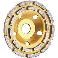 AGT Professional Topfscheibe: Diamant-Schleiftopf für Winkelschleifer, 2-fache Ringanordnung, 125 mm (Topfschleifer)