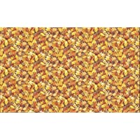 Fat Quarter Yellow Autumnal Leaves Landscape 100% Cotton Quilting Fabric Makower