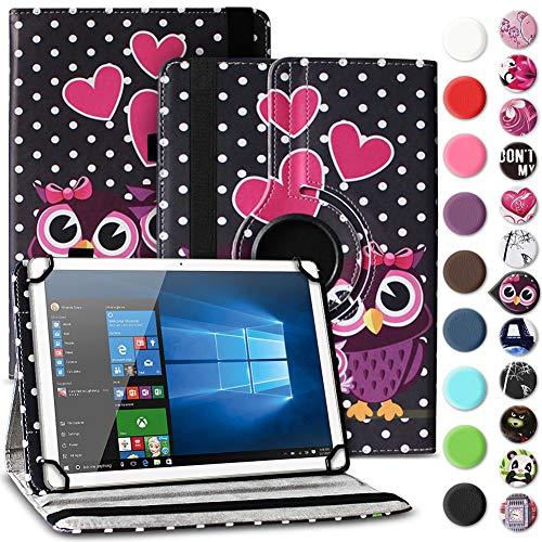 Nauci Tablet Hülle kompatibel für Odys ACE 10 Tasche Schutzhülle Case Universal Cover aus Kunst-Leder Standfunktion 360° Drehbar praktische Standfunktion, Farbe:Motiv 3