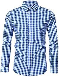 KoJooin Trachtenhemd Herren Hemd Langarmhemd Freizeithemd für Oktoberfest Freizeit Baumwolle