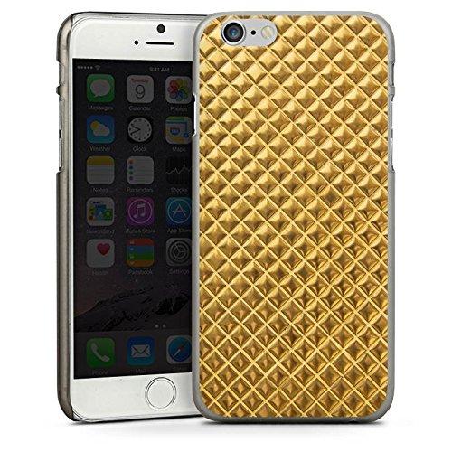 Apple iPhone 4 Housse Étui Silicone Coque Protection Rivets Or Motif CasDur anthracite clair