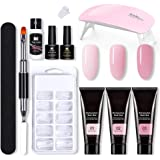 Nail Extension Gel Set Professionele Kit, poly nagel gel uitbreiding nagel bouwer kit, UV Nagellak Kleur Gel met Top Base Coa
