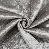 Ice Grey Fire Retardant Luxury Soft Plush Crushed Velvet Glitz Upholstery Cushion Fabric