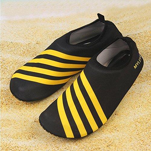 Generic Spiaggia Scarpe Calze Acqua Sportive Calzini Piscina Nuotare Slittamento Su Surf Nuotata Gialla