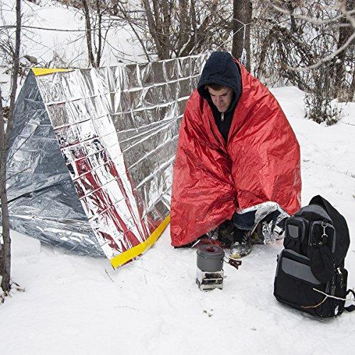 612ecrazFrL. SS500  - Steps Emergency Tent Survival Shelter Mylar Thermal Reflective Tube, plus Free Two Survival Bracelet Paracord