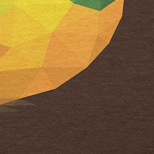 TEXLAB - Polygon Vogel - Herren T-Shirt Braun
