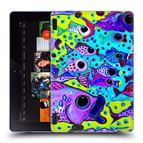 Head Case Designs Offizielle Mad Dog Art Gallery Fisch-Test Meer Soft Gel Hülle für Amazon Kindle Fire HDX 8.9