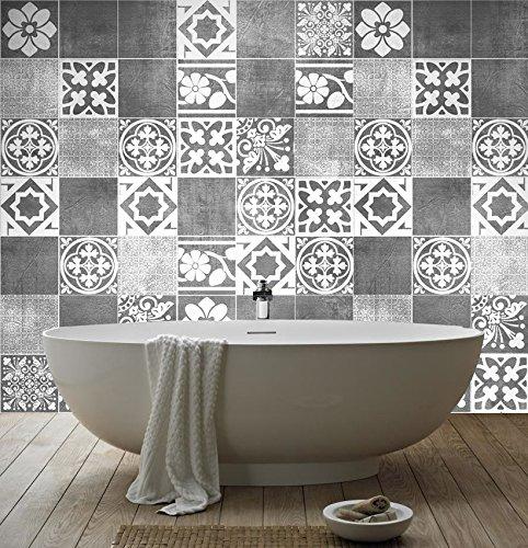 Küche Backsplash (Luxus Fliesenaufkleber Küche Wanddeko Ideen (Packung mit 56) - 10 x 10 cm)