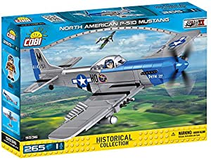 COBI- North American P-51D Mustang, avión, Color Gris y Azul (5536)