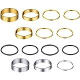 مجوهرات جولدشيك 3-28 قطعة خاتم متوسط الطول 1 مم، خاتم إصبع تكديس متوسط الحجم للفتيات المراهقات، مجموعة أساور بسيطة للنساء، ذه