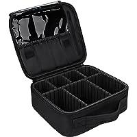 INOVERA (LABEL) Nylon Professional Cosmetic Makeup Kit Storage Organizer Travel Toiletry Vanity Bag with Adjustable…