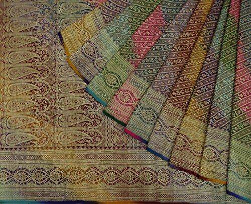 antike-stoff-gold-zari-jahrgangsari-mehrfarbige-polsterung-banarasi-seide-saree