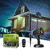 Projecteur Extérieur LED Lumière de Noël Etoilé Vert/ Rouge MicTuning Lampe de Paysage /Lampe d'Ambiance Etanche MicTuning avec Télécommande Rf Portée de 20m pour Une Couverture de 232 mettre carré ,Parfait pour la Décoration de l'Intérieur et Extérieur ,du Noël et du Jardin