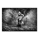 Fototapete - Motocross im Schlamm - Vlies Breit, Größe HxB: 190cm x 288cm