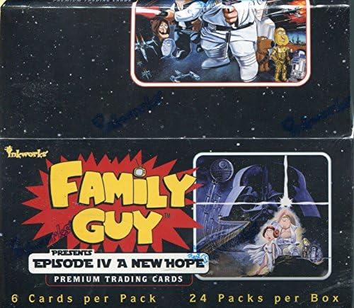 Boîte de 24 cartes cartes cartes Family Guy Star Wars Un nouvel espoir, scellée 92d640