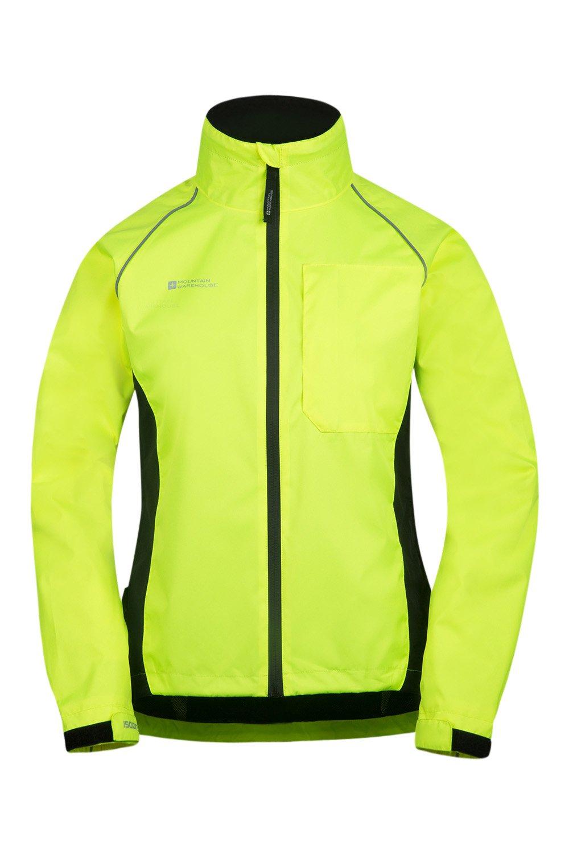 Mountain Warehouse Adrenaline Womens Jacket - Breathable Ladies Jacket, Taped Seams, Waterproof Raincoat, High Viz Rain Jacket - for Cycling, Running, Travelling 1
