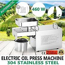 Autocompra Prensa Aceite Electrónica Acero Inoxidable Prensa Comercial para Aceite para Nueces y Semillas de Aceite