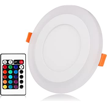 Ultra Slim 3+3w Round Concealed Dual Color Rgb Led Panel Light Cool White Lamp Downlight Ac 100-265v Ceiling Lights & Fans