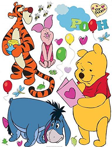 1art1 106587 Winnie Puuh Der Bär - Winnie Pooh with Friends Wand-Tattoo Aufkleber Poster-Sticker 30 x 30 cm